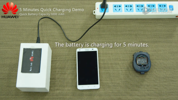 Huawei prototype battery charges to 50 percent in five minutes