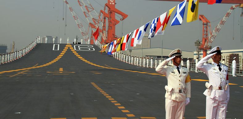China's first aircraft carrier LiaoNing 16